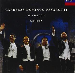 Carreras Domingo Pavarotti in Concert Roma '90 - CD Audio di Placido Domingo,Luciano Pavarotti,José Carreras