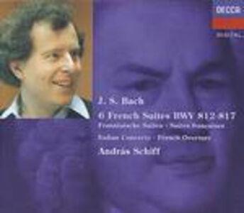 Foto Cover di Suites francesi - Concerto italiano - Ouverture francese BWV831, CD di Johann Sebastian Bach,Andras Schiff, prodotto da Decca