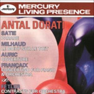 Foto Cover di Satie - Milhaud - Auric - Franc, CD di Antal Dorati, prodotto da Decca