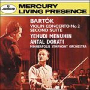 CD Concerto per violino n.2 - Suite n.2 di Bela Bartok