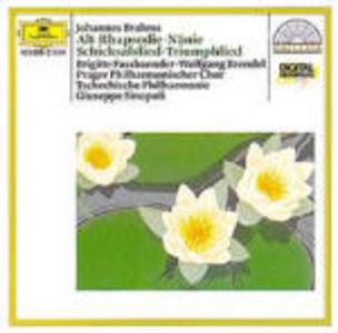 CD Rapsodia per contralto - Nänie - Schicksalslied - Triumphlied di Johannes Brahms