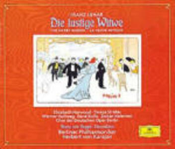 La vedova allegra (Die Lustige Witwe) / Ouvertures - CD Audio di Herbert Von Karajan,Franz Lehàr,Franz Von Suppé,René Kollo,Teresa Stratas,Elizabeth Harwood,Berliner Philharmoniker