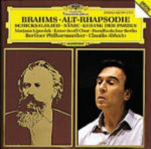 CD Rapsodia per contralto - Schicksalied - Nänie - Gesang der Parzen di Johannes Brahms
