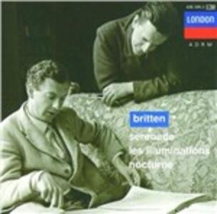 Serenade - Les Illuminations - Nocturne - CD Audio di Benjamin Britten,Peter Pears