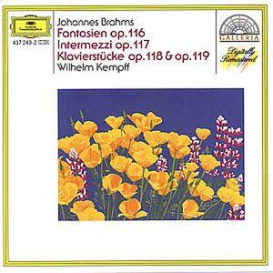 Foto Cover di Fantasie op.116 - Intermezzi op.117 - Pezzi per pianoforte op.118, op.119, CD di Johannes Brahms,Wilhelm Kempff, prodotto da Deutsche Grammophon