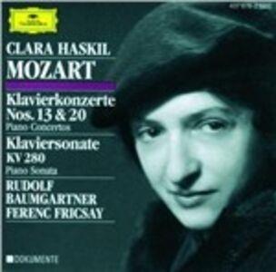 CD Concerti per pianoforte n.13, n.20 - Sonata per pianoforte K280 di Wolfgang Amadeus Mozart