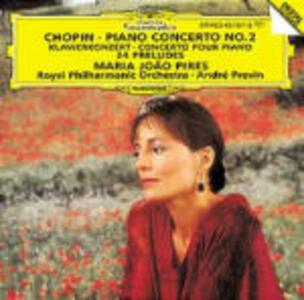 Concerto per pianoforte - 24 Preludi - CD Audio di Fryderyk Franciszek Chopin,André Previn,Maria Joao Pires,Royal Philharmonic Orchestra