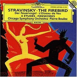 L'uccello di fuoco (L'oiseau de feu) - Fuochi d'artificio (Feu d'artificie) - Quattro Studi - CD Audio di Pierre Boulez,Igor Stravinsky,Chicago Symphony Orchestra