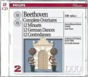 Ouvertures complete - Danze tedesche - CD Audio di Ludwig van Beethoven,Kurt Masur,Neville Marriner,Gewandhaus Orchester Lipsia,Academy of St. Martin in the Fields