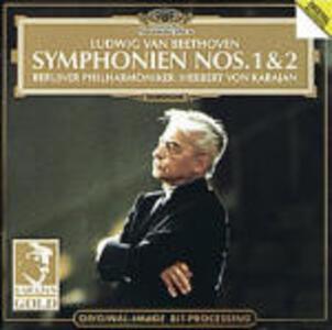 Sinfonie n.1, n.2 - CD Audio di Ludwig van Beethoven,Herbert Von Karajan,Berliner Philharmoniker