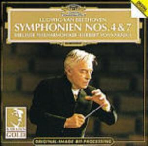 Sinfonie n.4, n.7 - CD Audio di Ludwig van Beethoven,Herbert Von Karajan,Berliner Philharmoniker