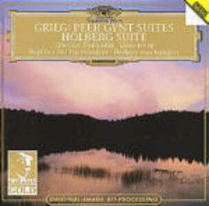 Peer Gynt Suites - Holberg Suite / Finlandia - Valse triste - CD Audio di Edvard Grieg,Jean Sibelius,Herbert Von Karajan,Berliner Philharmoniker