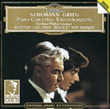 Concerto per pianoforte / Concerto per pianoforte - CD Audio di Edvard Grieg,Robert Schumann,Herbert Von Karajan,Berliner Philharmoniker,Krystian Zimerman