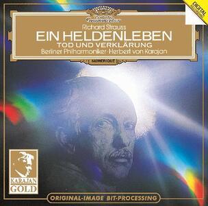 Vita d'eroe (Ein Heldenleben) - Morte e trasfigurazione (Tod und Verklärung) - CD Audio di Richard Strauss,Herbert Von Karajan,Berliner Philharmoniker