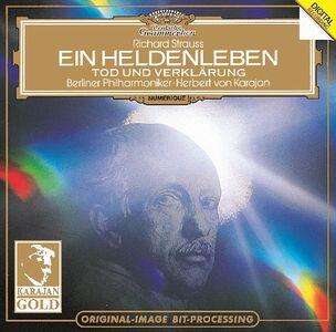 Foto Cover di Vita d'eroe (Ein Heldenleben) - Morte e trasfigurazione (Tod und Verklärung), CD di AA.VV prodotto da Dgg Karajan Gold