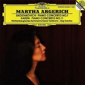 Concerto per pianoforte n.1 / Concerto per pianoforte n.11 - CD Audio di Franz Joseph Haydn,Dmitri Shostakovich,Martha Argerich,Jörg Faerber,Württemberg Philharmonic Orchestra