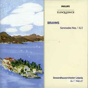 CD Serenades Nos 1 & 2 di Johannes Brahms
