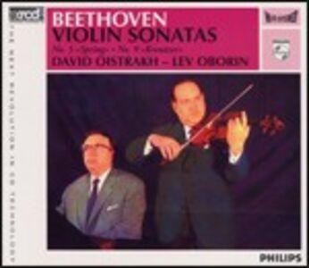 Foto Cover di Sonate per violino n.5, n.9, CD di Ludwig van Beethoven,David Oistrakh, prodotto da JVC