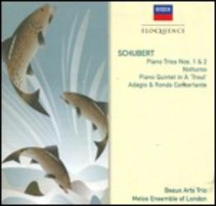 CD Trii con pianoforte n.1, n.2 - Quintetto La trota - Notturno - Adagio e rondò concertante di Franz Schubert