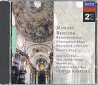 CD Requiem K626 - Messa dell'incoronazione K317 - Exsultate Jubilate - Litania di Wolfgang Amadeus Mozart