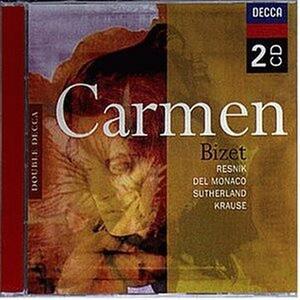 Carmen - CD Audio di Georges Bizet,Mario Del Monaco,Joan Sutherland,Alfredo Kraus,Regina Resnik,Thomas Schippers,Orchestre de la Suisse Romande