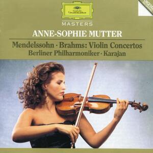 Concerto per violino / Concerto per violino - CD Audio di Johannes Brahms,Felix Mendelssohn-Bartholdy,Herbert Von Karajan,Anne-Sophie Mutter,Berliner Philharmoniker
