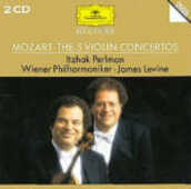 CD Concerti per violino completi Wolfgang Amadeus Mozart James Levine Itzhak Perlman