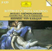 CD Missa Solemnis / Messa dell'incoronazione K317 Ludwig van Beethoven Wolfgang Amadeus Mozart Herbert Von Karajan