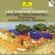 Sinfonia spagnola / Concerto per violino - CD Audio di Camille Saint-Saëns,Edouard Lalo,Itzhak Perlman,Orchestre de Paris,Daniel Barenboim