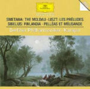 Foto Cover di La Moldava (Die Moldau) / Les Préludes / Finlandia, CD di AA.VV prodotto da Deutsche Grammophon