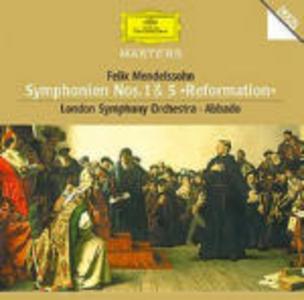 CD Sinfonie n.1, n.5 di Felix Mendelssohn-Bartholdy