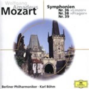 CD Sinfonie n.36, n.38, n.39 di Wolfgang Amadeus Mozart
