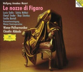 Le nozze di Figaro - CD Audio di Cecilia Bartoli,Cheryl Studer,Sylvia McNair,Lucio Gallo,Wolfgang Amadeus Mozart,Claudio Abbado,Wiener Philharmoniker
