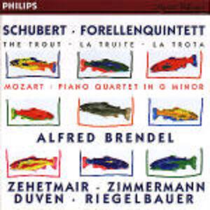 """CD Quintetto con pianoforte """"La trota"""" / Quartetto con pianoforte K478 Wolfgang Amadeus Mozart , Franz Schubert"""