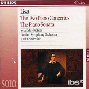 Concerti per pianoforte - Sonata per pianoforte - CD Audio di Franz Liszt,Sviatoslav Richter,London Symphony Orchestra,Kyril Kondrashin