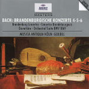 CD Concerti brandeburghesi n.4, n.5, n.6 di Johann Sebastian Bach
