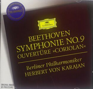 CD Sinfonia n.9 - Ouverture Coriolano di Ludwig van Beethoven