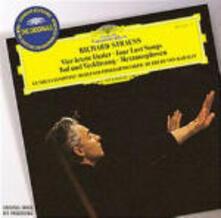 Vier Letzte Lieder - Metamorfosi - Morte e trasfigurazione (Tod und Verklärung) - CD Audio di Richard Strauss,Herbert Von Karajan,Gundula Janowitz,Berliner Philharmoniker