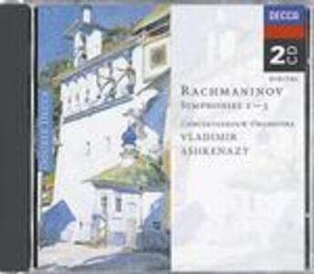 Sinfonie n.1, n.2, n.3 - CD Audio di Sergej Vasilevich Rachmaninov,Vladimir Ashkenazy,Royal Concertgebouw Orchestra