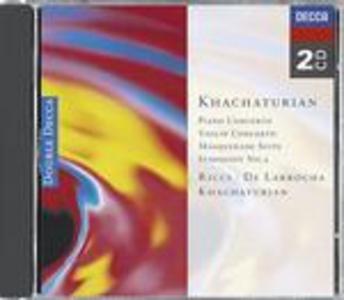 CD Concerto per pianoforte - Concerto per violino - Sinfonia n.2 - Masquerade Suite di Aram Khachaturian