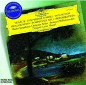 CD Sinfonia in Re minore / Sinfonia n.5 César Franck , Felix Mendelssohn-Bartholdy