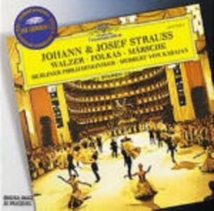 Valzer - Polke - Marce - CD Audio di Johann Strauss,Josef Strauss,Herbert Von Karajan,Berliner Philharmoniker