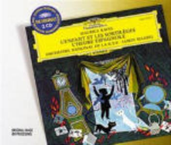 L'enfant et les sortilèges - L'heure espagnole / Capriccio spagnolo / Le chant du Rossignol - CD Audio di Maurice Ravel,Igor Stravinsky,Nikolai Rimsky-Korsakov,Lorin Maazel