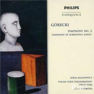 Symphony No.3 - CD Audio di Henryk Mikolaj Gorecki