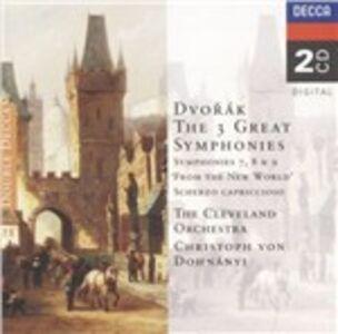 CD Sinfonie n.7, n.8, n.9 di Antonin Dvorak