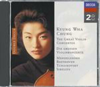 CD Concerti per violino Ludwig van Beethoven , Jean Sibelius , Pyotr Il'yich Tchaikovsky , Felix Mendelssohn-Bartholdy