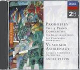 Concerti per pianoforte n.1, n.2, n.3, n.4, n.5 - CD Audio di Sergej Sergeevic Prokofiev,André Previn,Vladimir Ashkenazy,London Symphony Orchestra