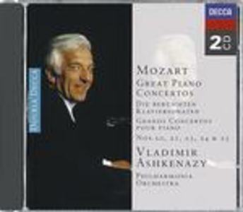 CD Concerti per pianoforte n.20, n.25, n.21, n.24, n.23 di Wolfgang Amadeus Mozart
