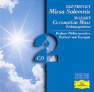 CD Missa Solemnis / Messa dell'incoronazione K317 Ludwig van Beethoven , Wolfgang Amadeus Mozart