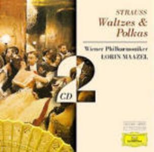 Valzer - Polke - CD Audio di Johann Strauss,Lorin Maazel,Wiener Philharmoniker